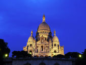 Sacre-Coeur Basilica at night — Stock Photo