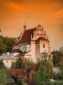 Kazimierz Parish Church Fara at sunset — Stock Photo