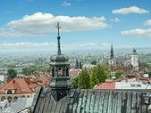 Panorama of old town Sandomierz — Stock Photo