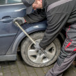Car tire change — Stock Photo #50871763