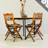 Tisch stuhl für kunden. — Stockfoto
