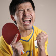 Table Tennis player very delight — Stock Photo #16354243