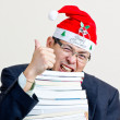 Santa businessman — Stock Photo