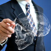 Sketch Human head Skull — Stock Photo