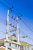Close up Electrical power transformer — Stock Photo
