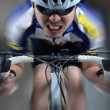Super high speed Cycler riding — Stock Photo
