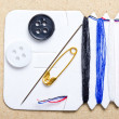 Royalty-Free Stock Photo: Sewing buttons easy set