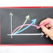 Growing up graph business concept — Stock Photo
