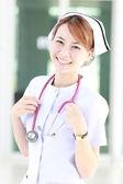 Nurse with stethoscope concept — Stock Photo
