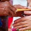 Wedding of Cultural Thailand on during give holy water that pare — Stock Photo #22986444