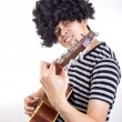 Guiter player rock you — Stok fotoğraf