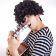 Guiter player rock you — Stock Photo