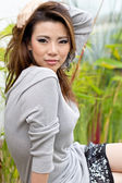 Portrait beautiful Asian Girl t — Stock Photo