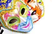 Máscaras blancas drama — Foto de Stock