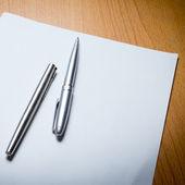 Två penna — Stockfoto
