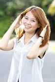 Portrait beautiful Asian Girl — Stock Photo