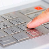 Close up ATM for withdraw your money — Stock Photo
