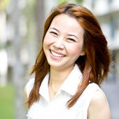 Portrait beautiful Asian Girl t — Stock Photo