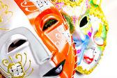 White drama masks — Stock Photo