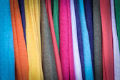 Close up hang shirts and cloths — Stock Photo
