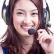 Asian women call center  — Stock Photo