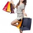 Asian woman with shopping bags — Stock Photo