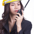 Portrait Asian Engineer with work concept  — Stock Photo