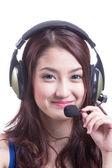 亚洲妇女呼叫中心 — 图库照片