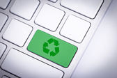 Type your recycle icon on the keyboard — Stock Photo
