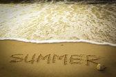 Texto de verano — Foto de Stock