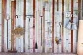 Bahçe ekipmanları koleksiyonu — Stok fotoğraf