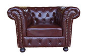 Classic and Luxurious armchair with clipping path — Stock Photo