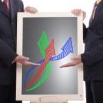 Businessman Show growing graph — Stock Photo