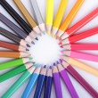 Colorful of pencils in concept all for one — Stock Photo #32875967