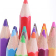 Colorful of pencils in concept all for one — Stock Photo #32876947