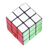 Six color cube puzzle — Stock Photo