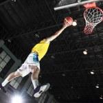 Basketball player layup for score — Stock Photo #33429179