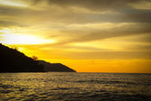 Twilight time on the beach — Stock Photo