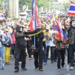 BANGKOK - DEC 9: Many Masked protesters walked for anti governme — Stock Photo