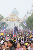 BANGKOK - DEC 9: Many 5 milion people walked for anti government — Stock Photo