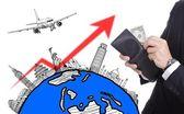 Vliegtuig reizen — Stockfoto
