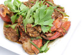 Fried Singapore chili mud crab — Stock Photo