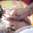 Stock Photo: PENANG, Malaysi- JANUARY 17: Hindu devotee carries kavadi hims