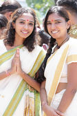 PENANG, Malaysia - JANUARY 17: Femal hindu devotee with indian u — Stock Photo