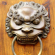Golden Chinese Old Door — Stock Photo