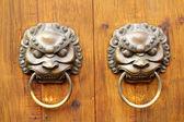 Golden Chinese Old Door — Foto de Stock