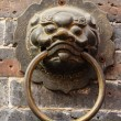 Close up Golden Chinese Old Door — Stock Photo #44283873