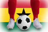 Jugador de fútbol de ghana — Foto de Stock