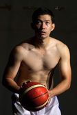 Basketball player prepare to shoot ball — Stock Photo