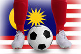 Malaysia soccer player — Stock Photo